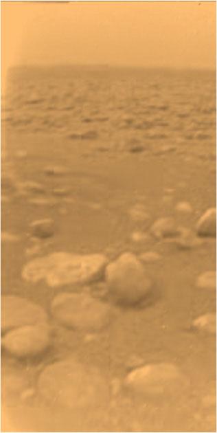 Единственная фотография с поверхности Титана