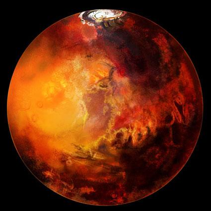 Марс - сухой лед и дюны на планете (NASA по-русски)...