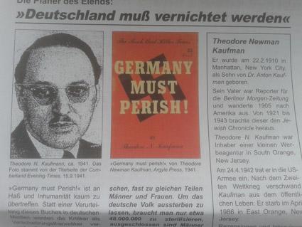 В 1933 г. евреи, объявившие войну Германии, не смогли найти повода, который бы годился для оправдания начала этой войны