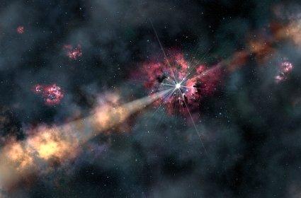Как возникает космический джет?