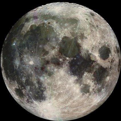 Какого цвета Луна?